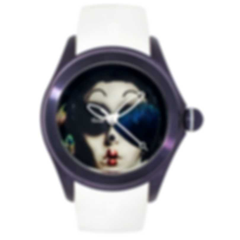 Corum Bubble 42 Purple PVD Coated Stainless Steel Automatic Ladies Watch L082/03619