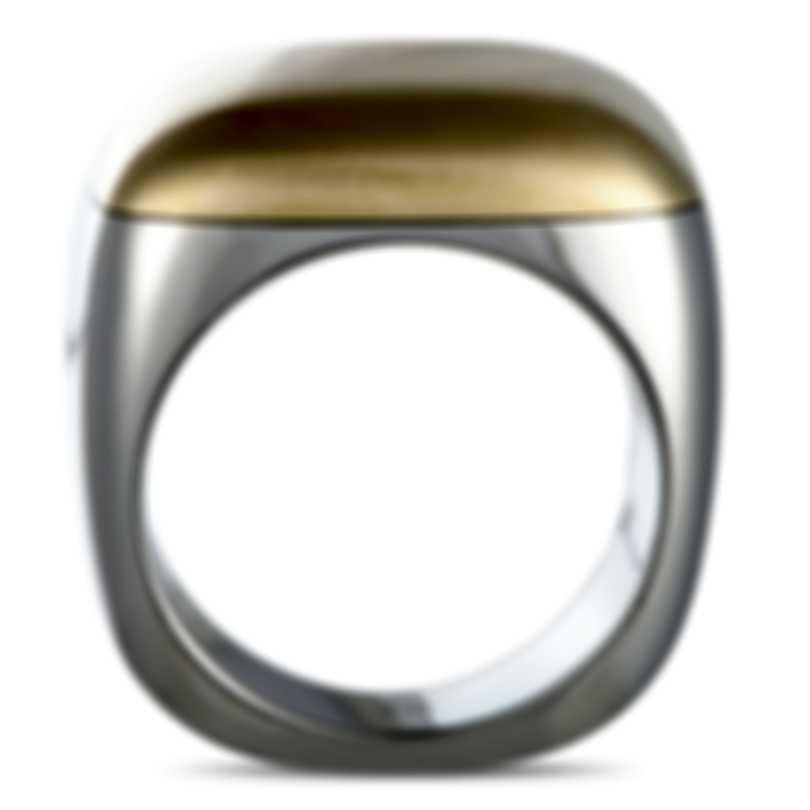 "Calvin Klein - ""Placid"" Yellow Gold PVD Stainless Steel Ring KJ0CER2001-06"