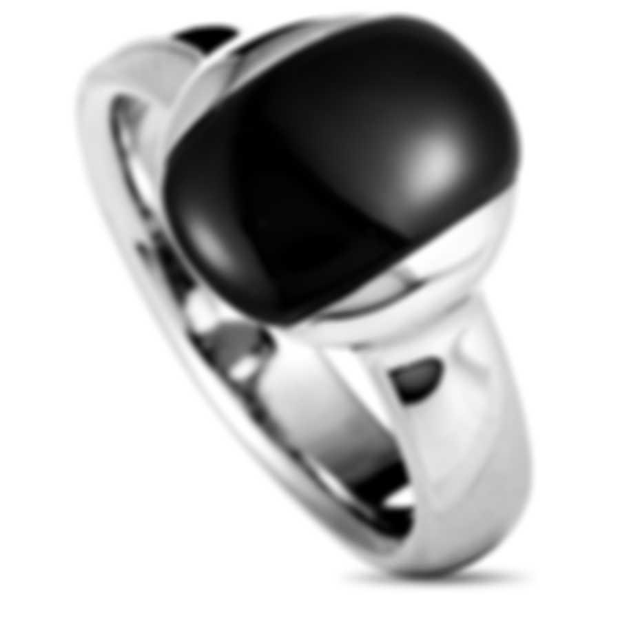 """Calvin Klein - """"Devoted"""" Stainless Steel, Black Cat Eye Ring KJ0NBR0501-06"""