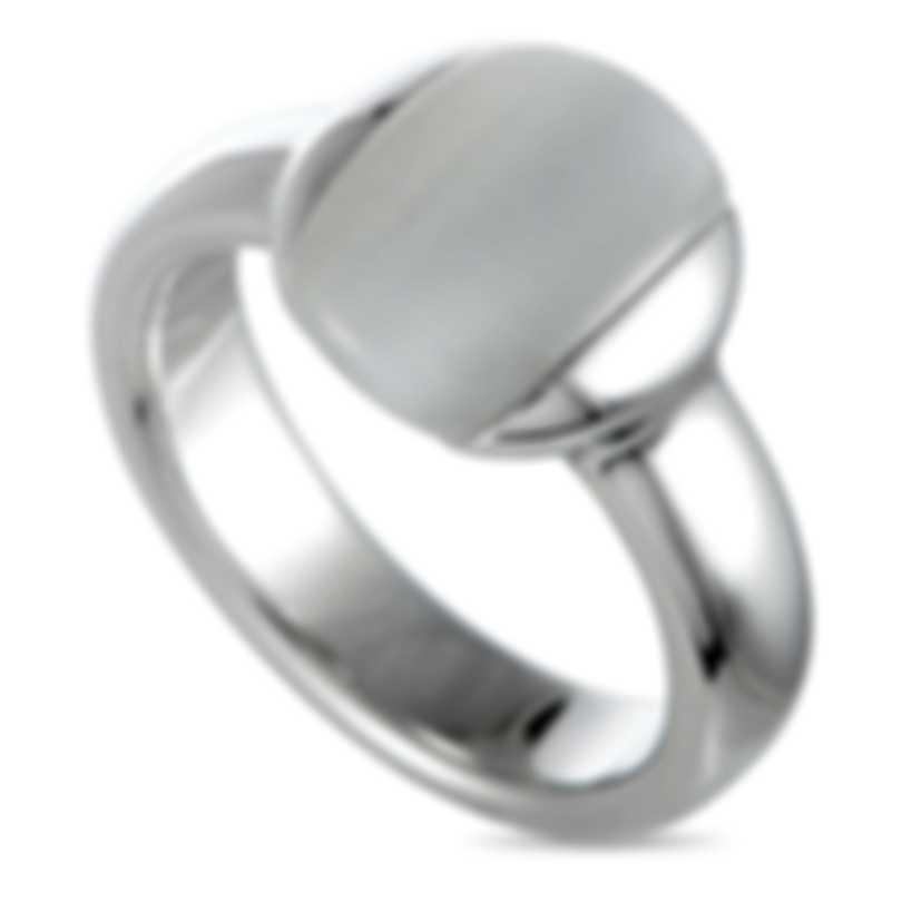 """Calvin Klein - """"Devoted"""" Stainless Steel, Black Cat Eye Ring KJ0NWR0501-06"""