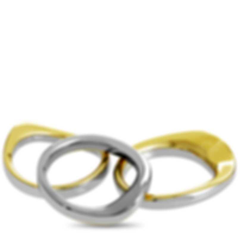 "Calvin Klein ""Undulate"" Yellow PVD Stainless Steel Rings Set KJ1AJR2001-06"