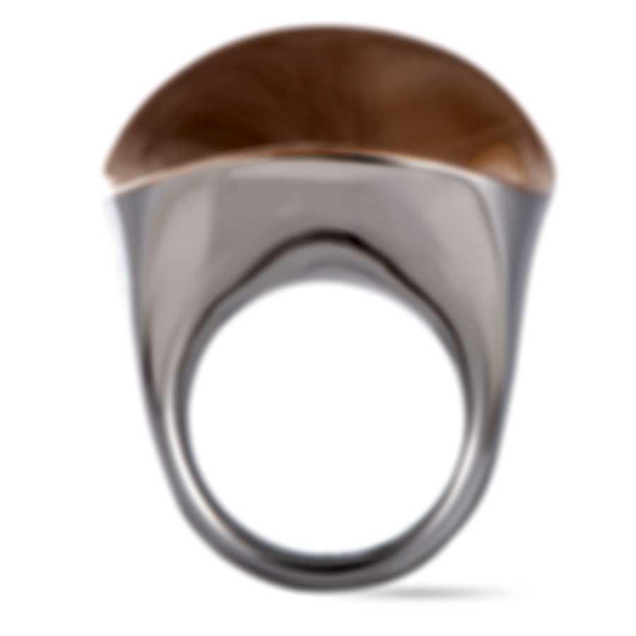 "Calvin Klein ""Undulate"" Pink PVD Stainless Steel Ring KJ1APR2002-06"