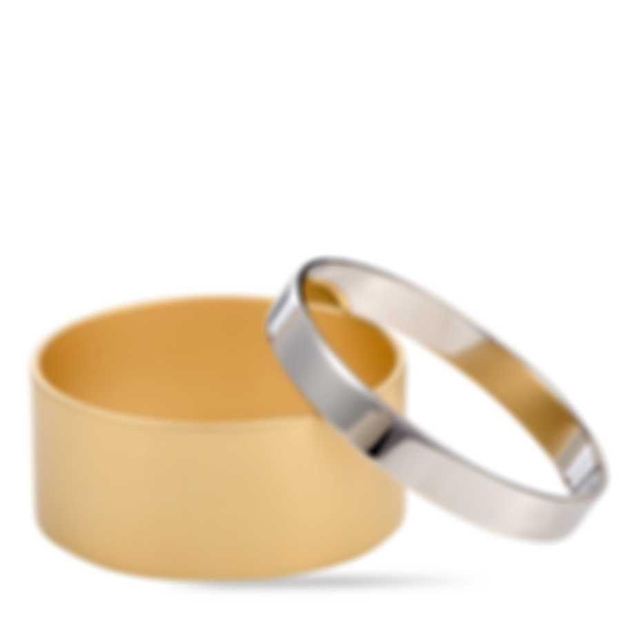 Calvin Klein Satisfaction Gold PVD Stainless Steel Bangle Bracelet KJ1DJD2801-0S