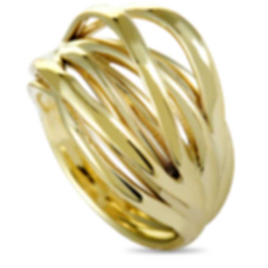 """Calvin Klein - """"Crisp"""" Yellow PVD Stainless Steel Ring KJ1RJR1001-06"""