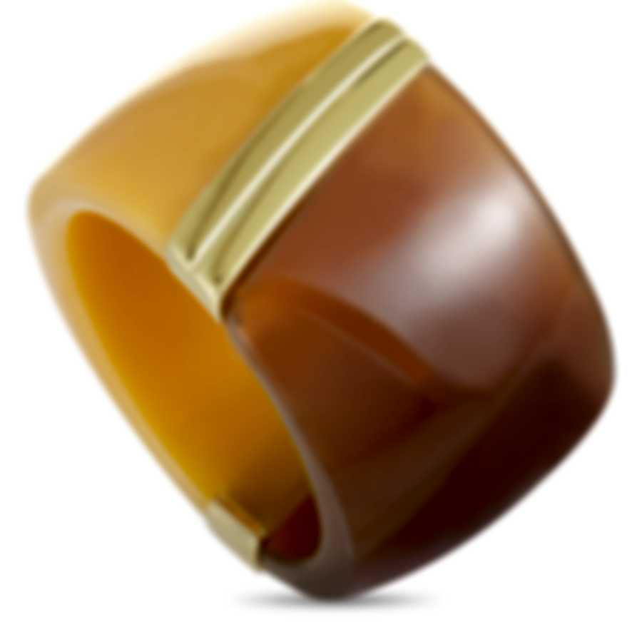 """Calvin Klein """"Vision"""" Gold PVD-Plated Stainless Steel Ring KJ2RCR2901-06"""