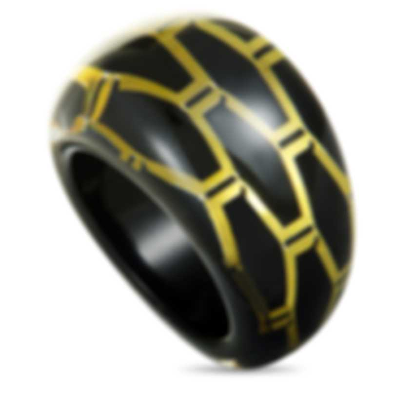 "Calvin Klein ""Abstract"" Yellow & Black PVD Stainless Steel Ring KJ2SBR5601-06"