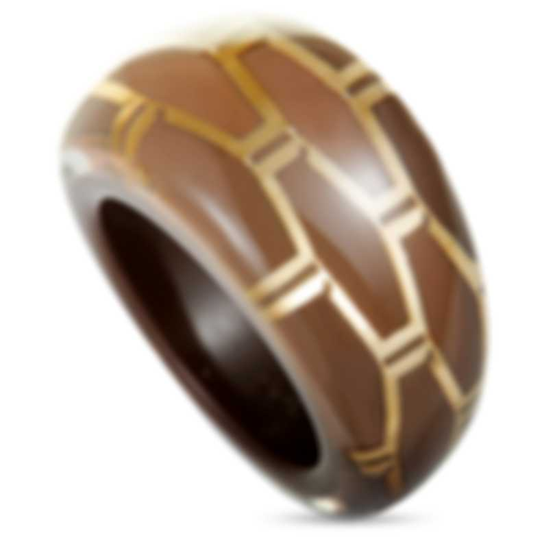 "Calvin Klein ""Abstract"" Gold-Plated Stainless Steel Ring KJ2SCR5601-06"