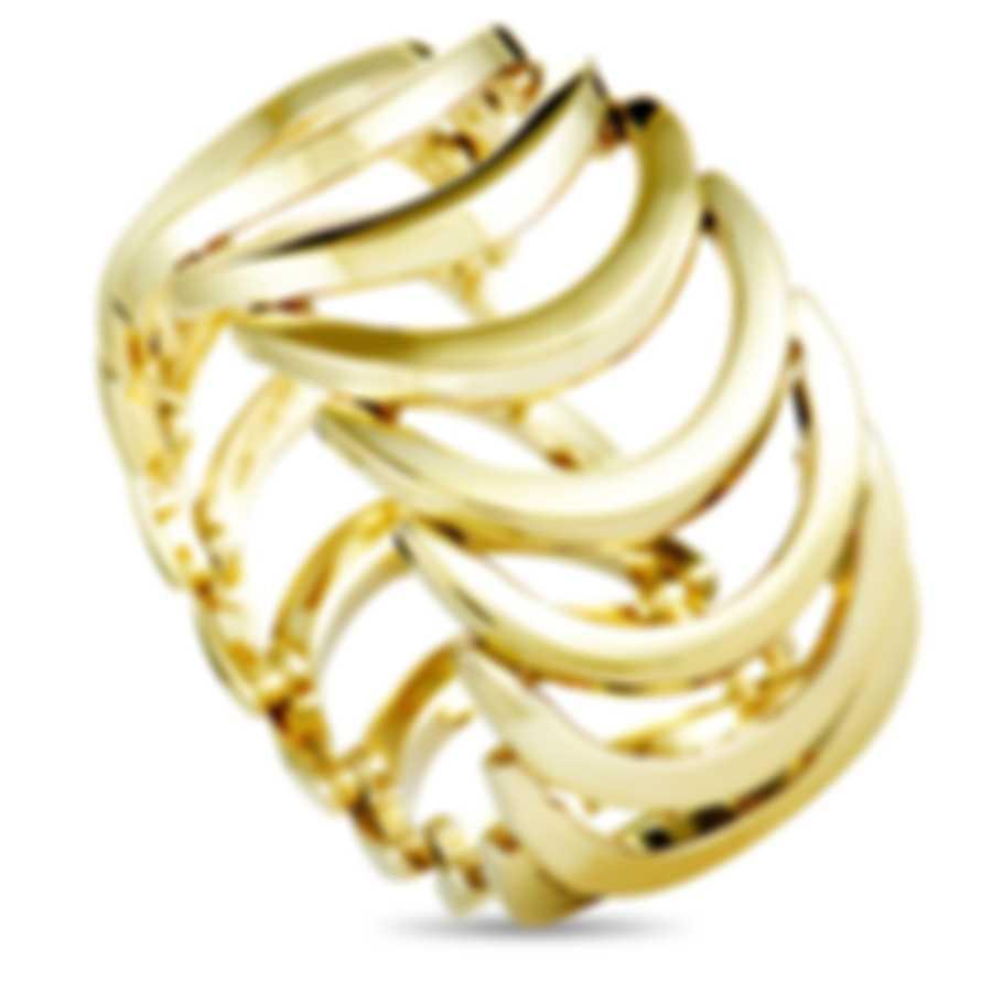 "Calvin Klein - ""Body"" Yellow PVD Stainless Steel Ring KJ2WJR1001-06"