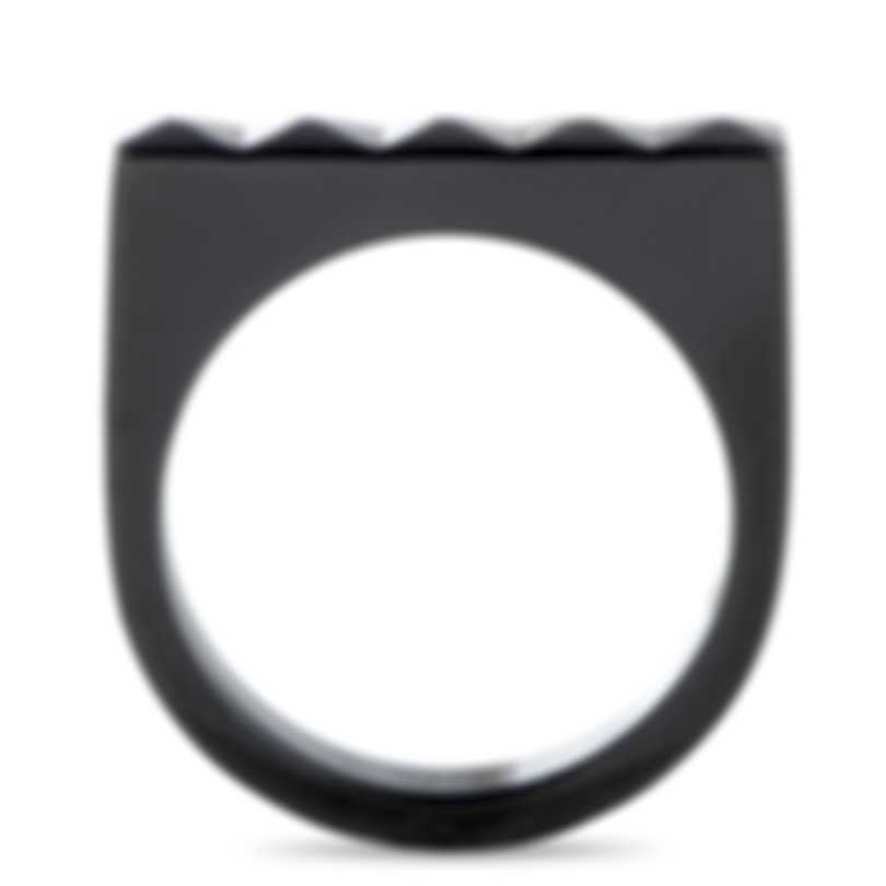 "Calvin Klein - ""Edge"" Black PVD Stainless Steel Ring KJ3CBR1001-06"
