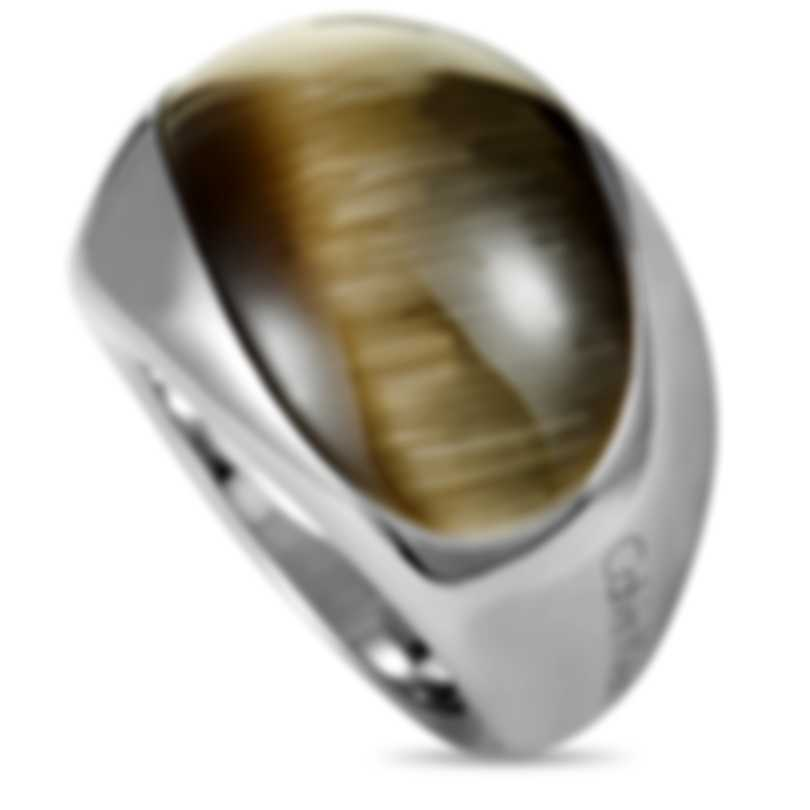"Calvin Klein ""Ellipse"" Stainless Steel Synthetic Stone Ring KJ3QCR0201-06"