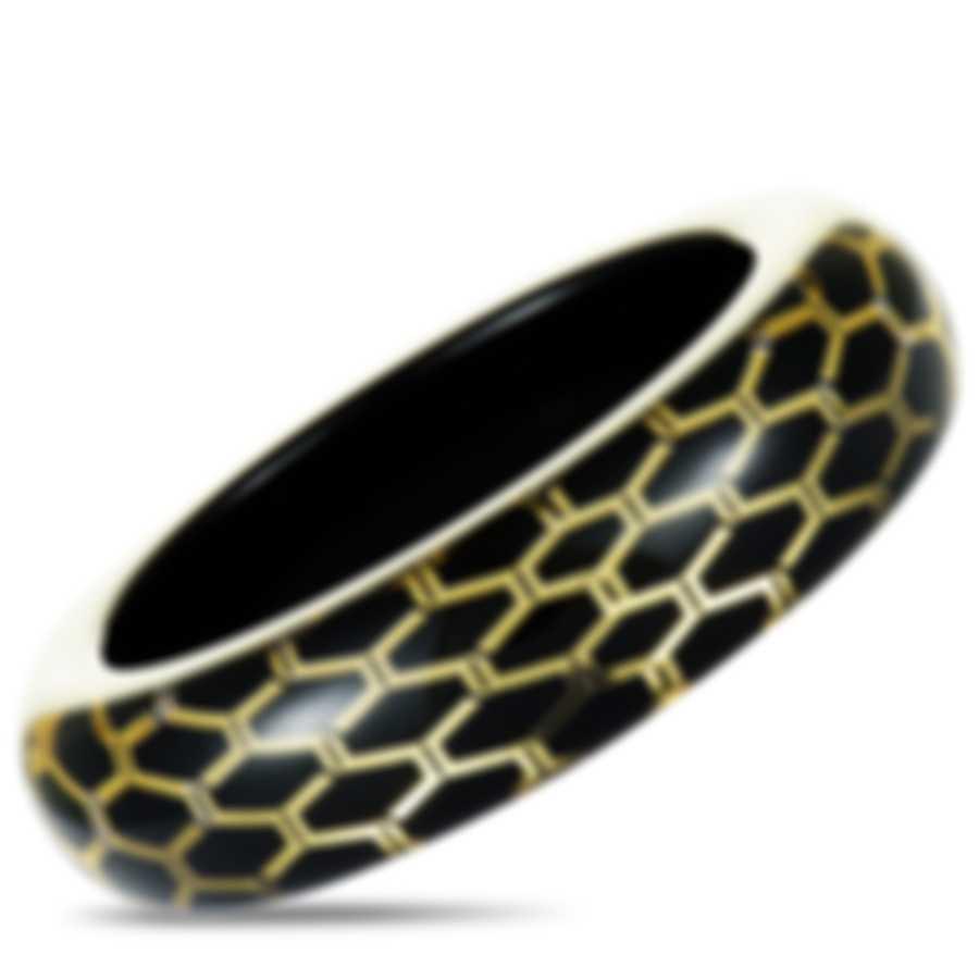 Calvin Klein Abstract Yellow & Black PVD Stainless Steel Bracelet KJ2SBD5601-XS