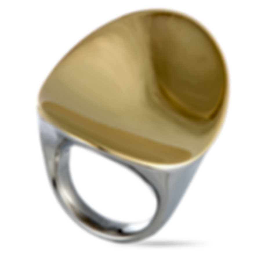 "Calvin Klein ""Undulate"" Yellow PVD Stainless Steel Ring KJ1AJR2002-06"
