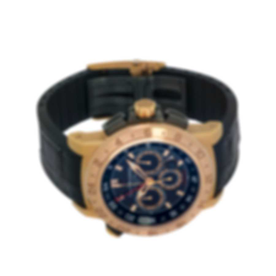 Carl F. Bucherer 18K Rose Gold Patravi Traveltec II Men's Watch 00.10633.03.33.01