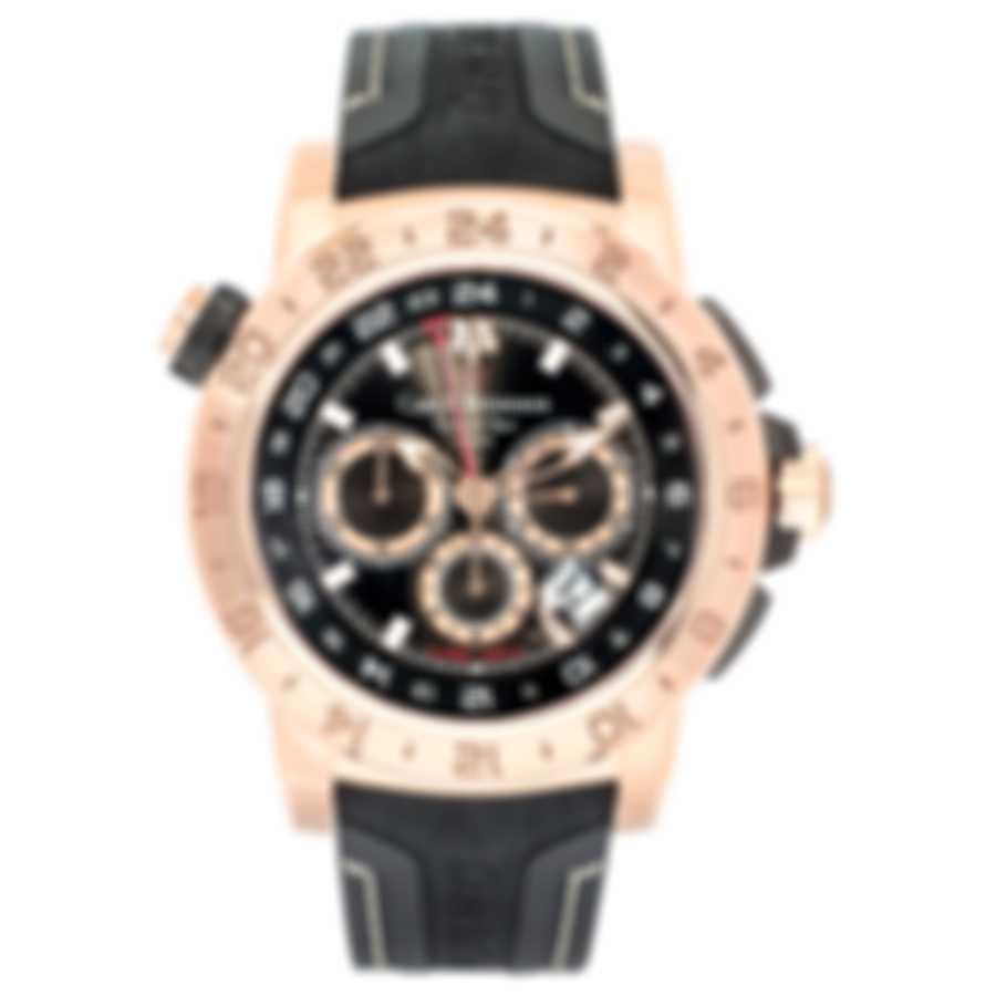 Carl F. Bucherer 18K Rose Gold Patravi Traveltec II Men's Watch 00.10633.03.33.02