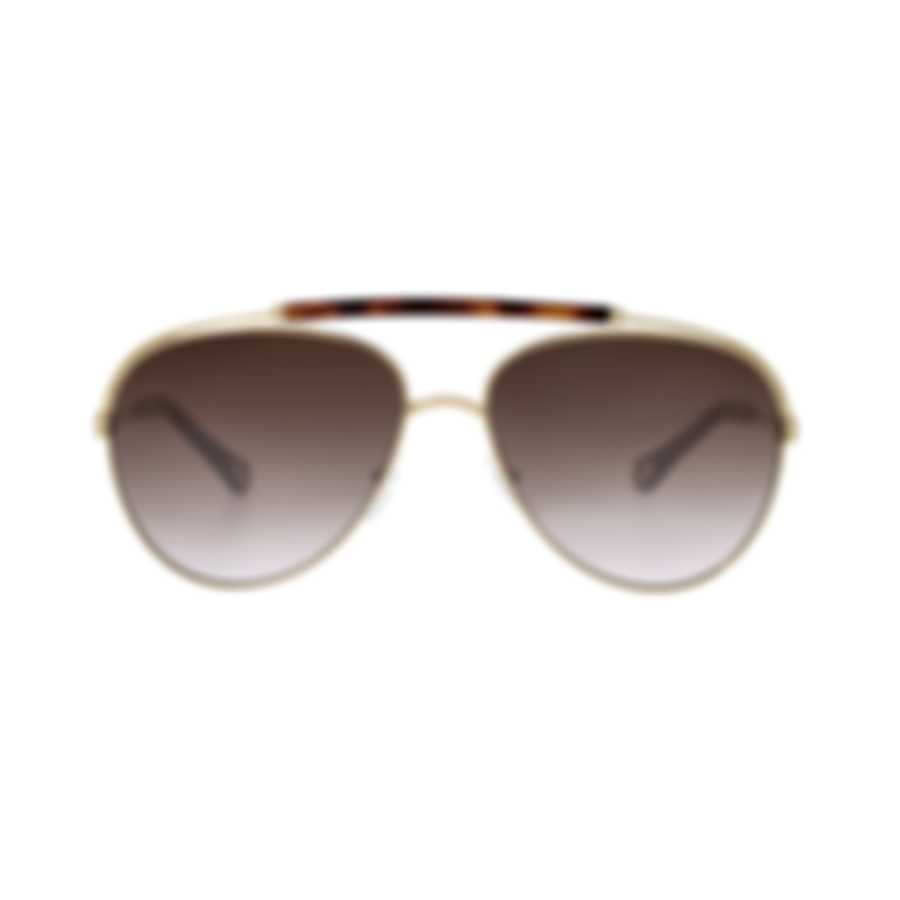 Chloe Women's Gold Aviator Style Metal Sunglasses CE141S-757