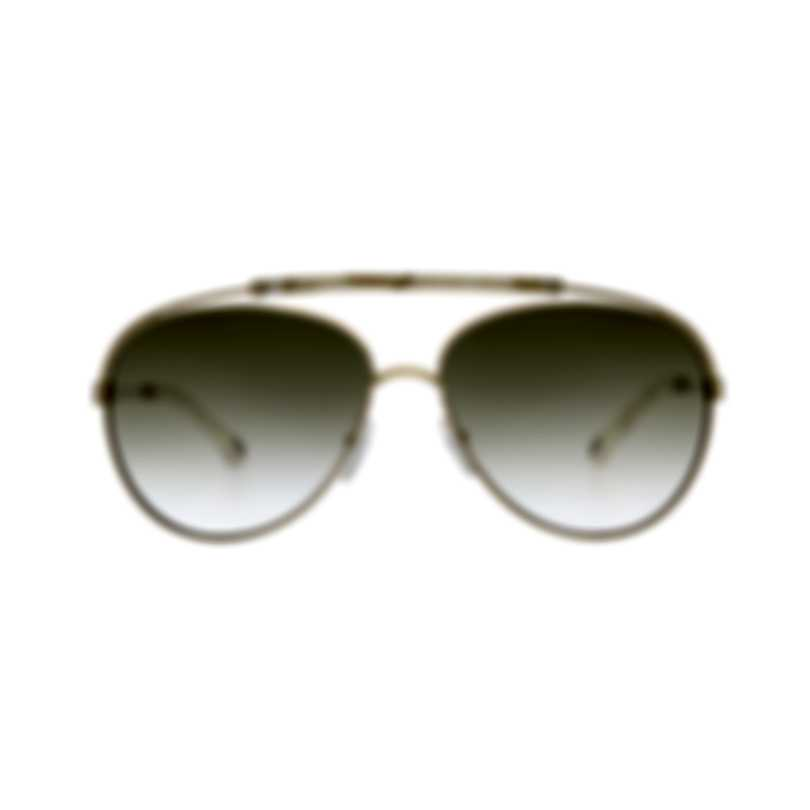 Chloe Women's Gold Ivory Aviator Style Metal Sunglasses CE141S-795