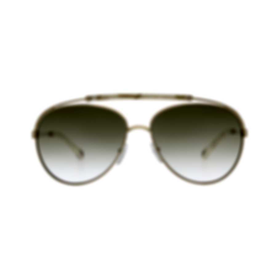 Chloe Women's Gold Ivory Aviator Style Metal Sunglasses CE141S-795