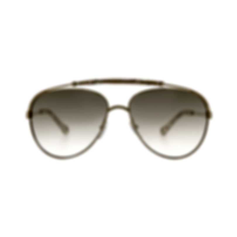 Chloe Gold And Marble Beige Crystal Aviator Style Sunglasses CE141S-809