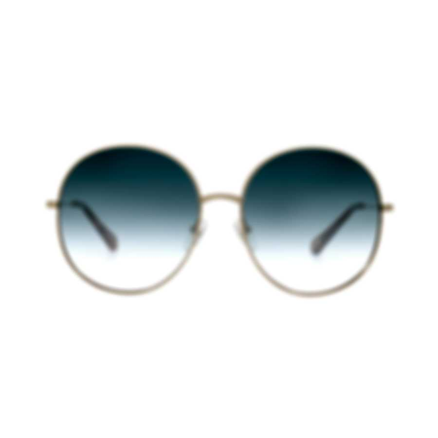Chloe Women's Gold And Blue Gradient Metal Sunglasses CE171S-838