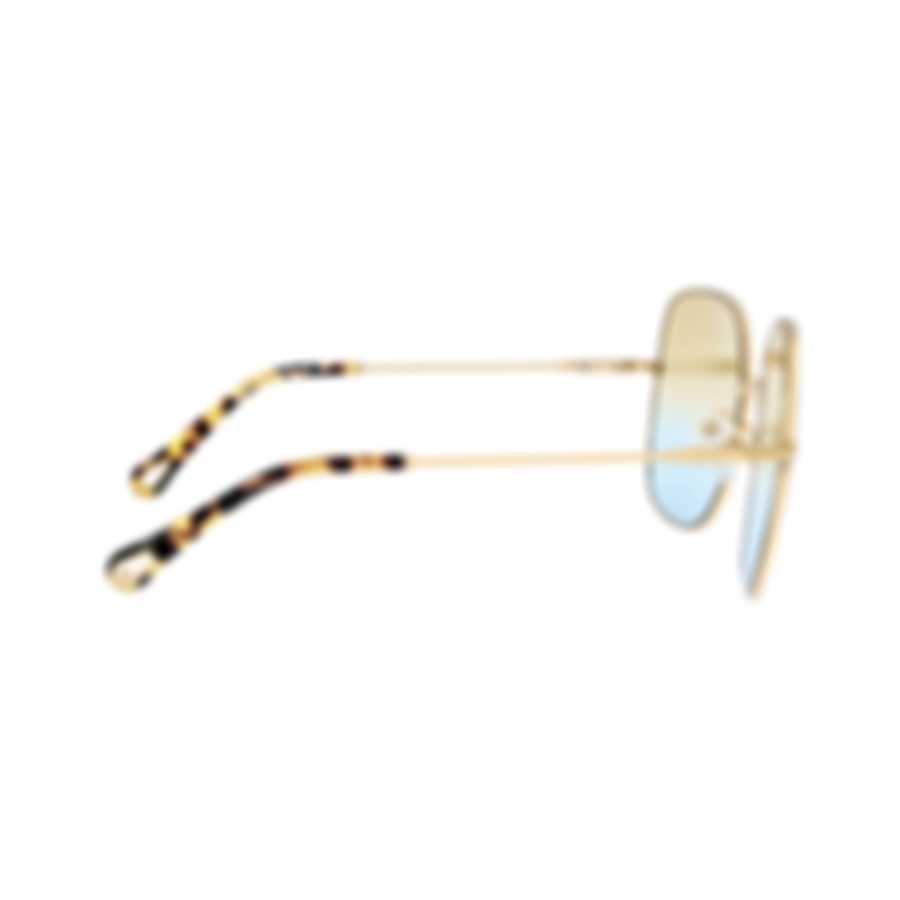 Chloe Women's Gold Metal Sunglasses CE172S-895