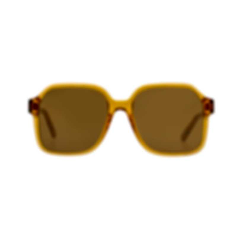 Chloe Women's Brick Crystal Brown Acetate Sunglasses CE761S-204