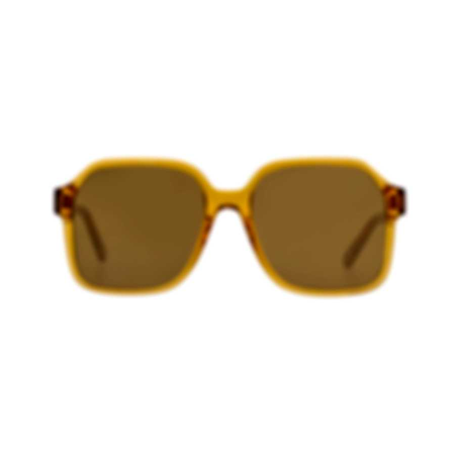 Chloe Women's Brick Crystal Brown Acetate Sunglasses CE761S-204
