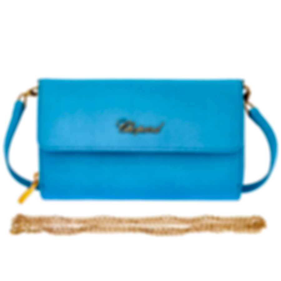 Chopard Tokyo Turquoise Leather Handbag 95000-0493