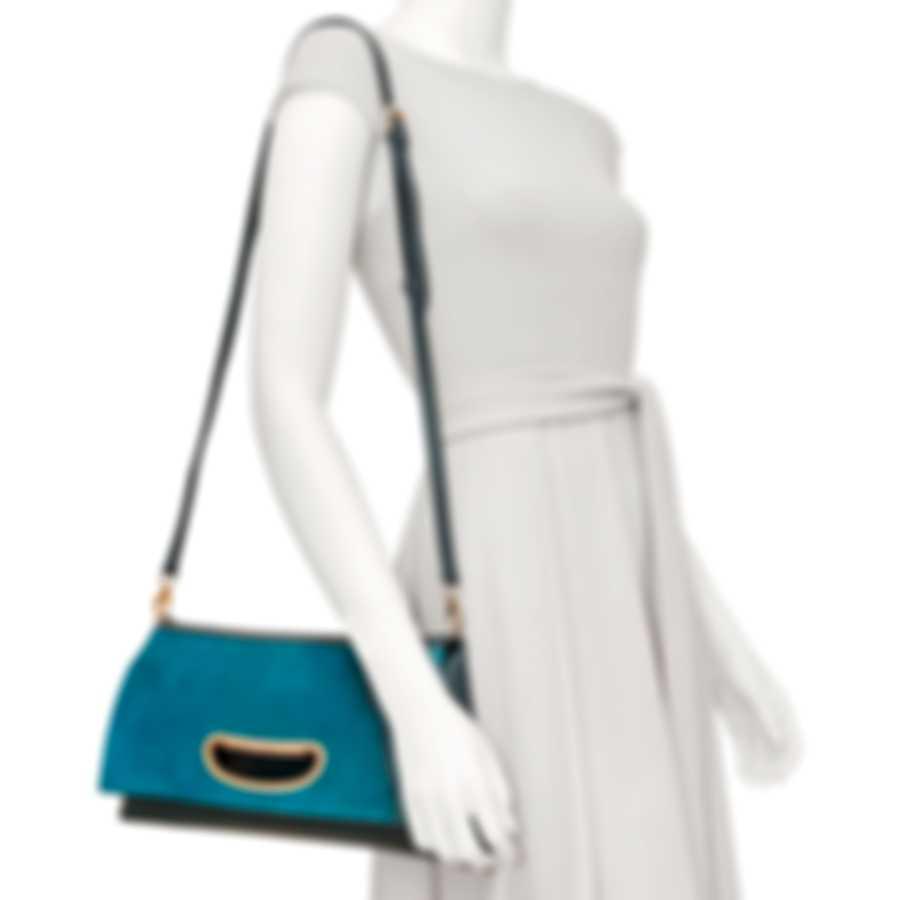 Chopard Lisbona Blue Leather Handbag 95000-0552
