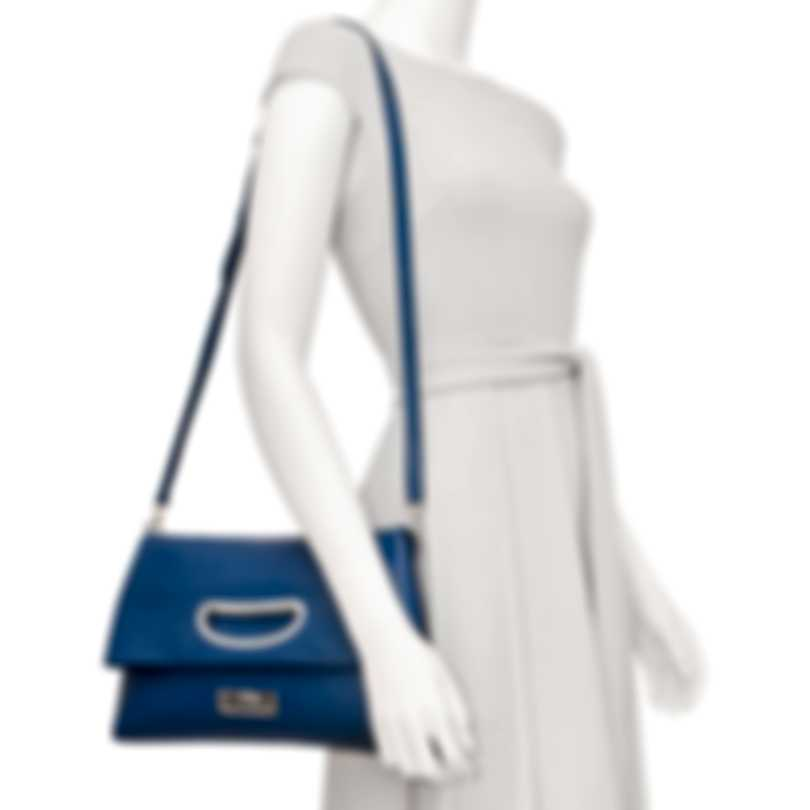 Chopard Lisbona Blue Leather Handbag 95000-0555