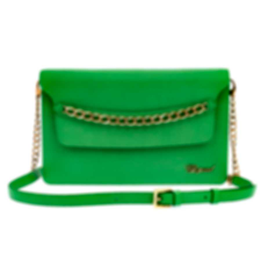 Chopard Monaco Green Leather Handbag 95000-0537