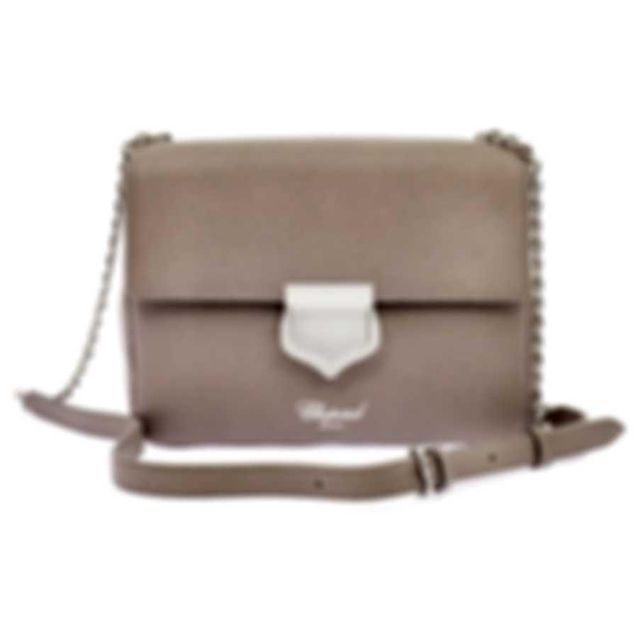 """Chopard Siena """"Mini"""" Grey Leather Handbag 95000-0657"""