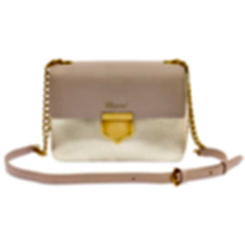 "Chopard Siena ""Mini"" Pink And Gold Leather Handbag 95000-0662"
