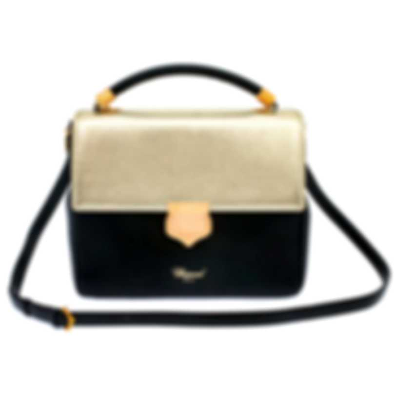 Chopard Siena Black And Gold Leather Handbag 95000-0671
