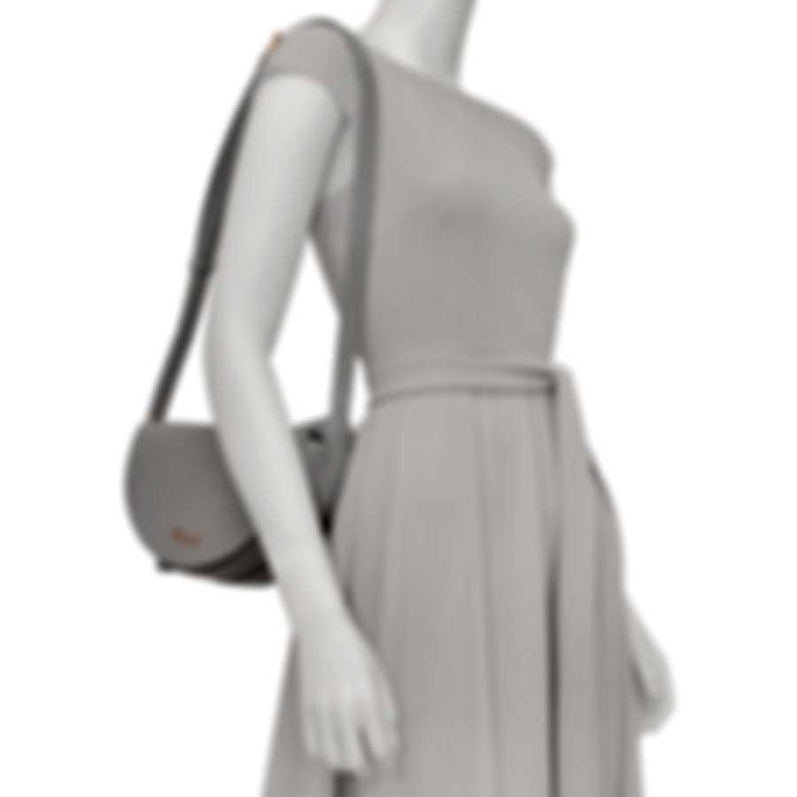 Chopard Demi-Lune Grey Leather Handbag 95000-0766