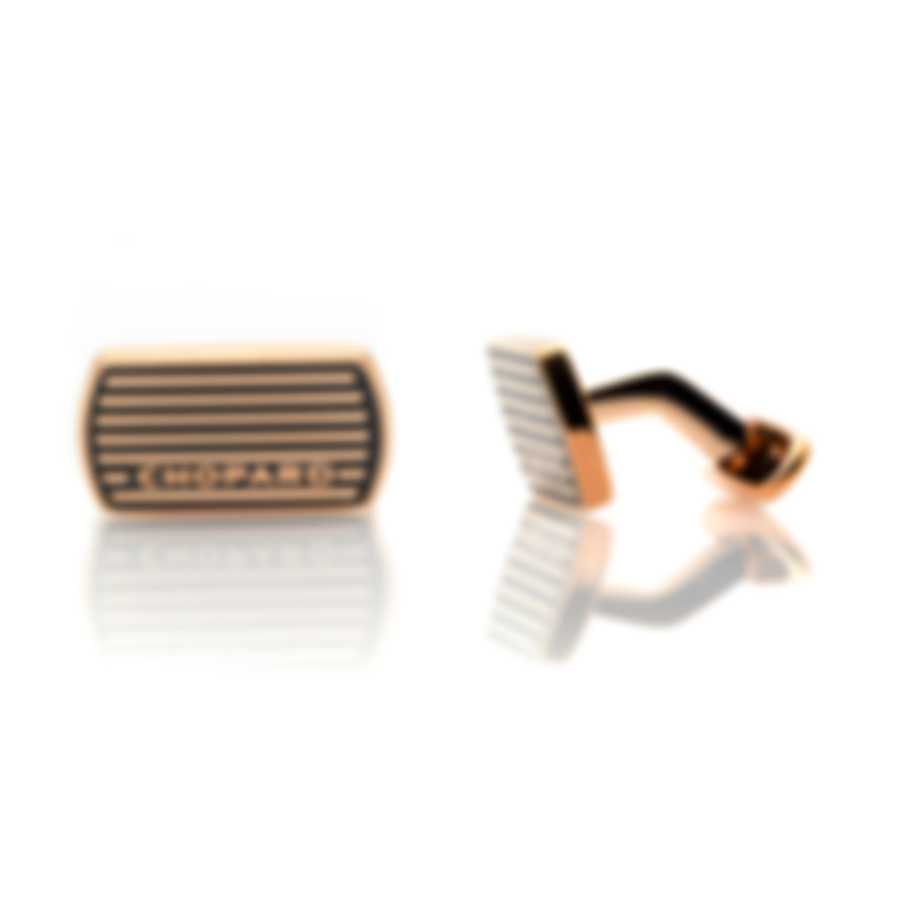 Chopard Classic Racing Black And Gold Gold Plated Steel Cufflinks 95014-0034