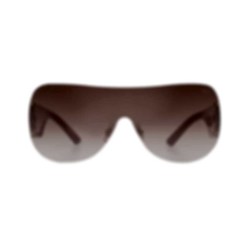 Chopard Brown & Red Wraparound Sunglasses 95211-0092