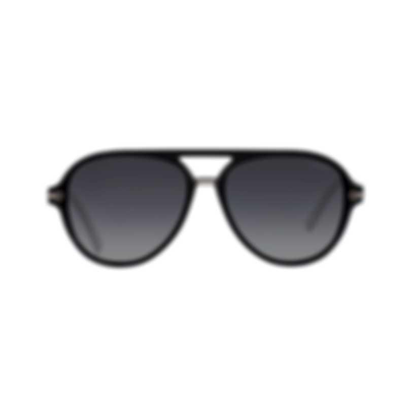 Chopard Superfast Grey Gradient & Black Aviator Style Sunglasses 95217-0342