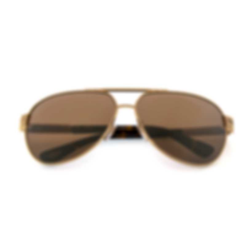 Chopard Gold And Tortoise Sunglasses 95217-0387
