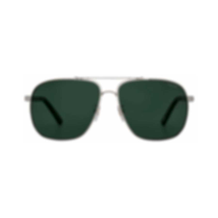 Chopard Grey Green & Silver Aviator Style Sunglasses 95217-0413
