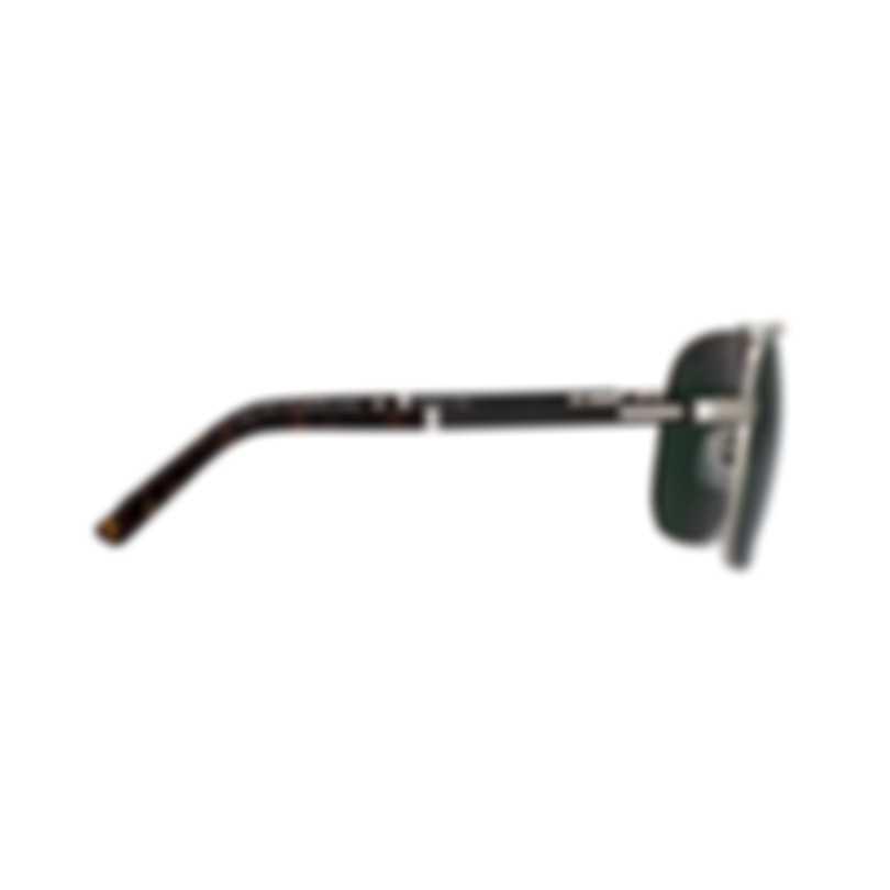 Chopard Grey Green & Silver Aviator Style Sunglasses 95217-0413