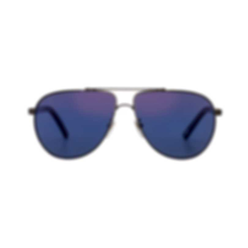 Chopard Blue & Gunmetal Aviator Style Sunglasses 95217-0419