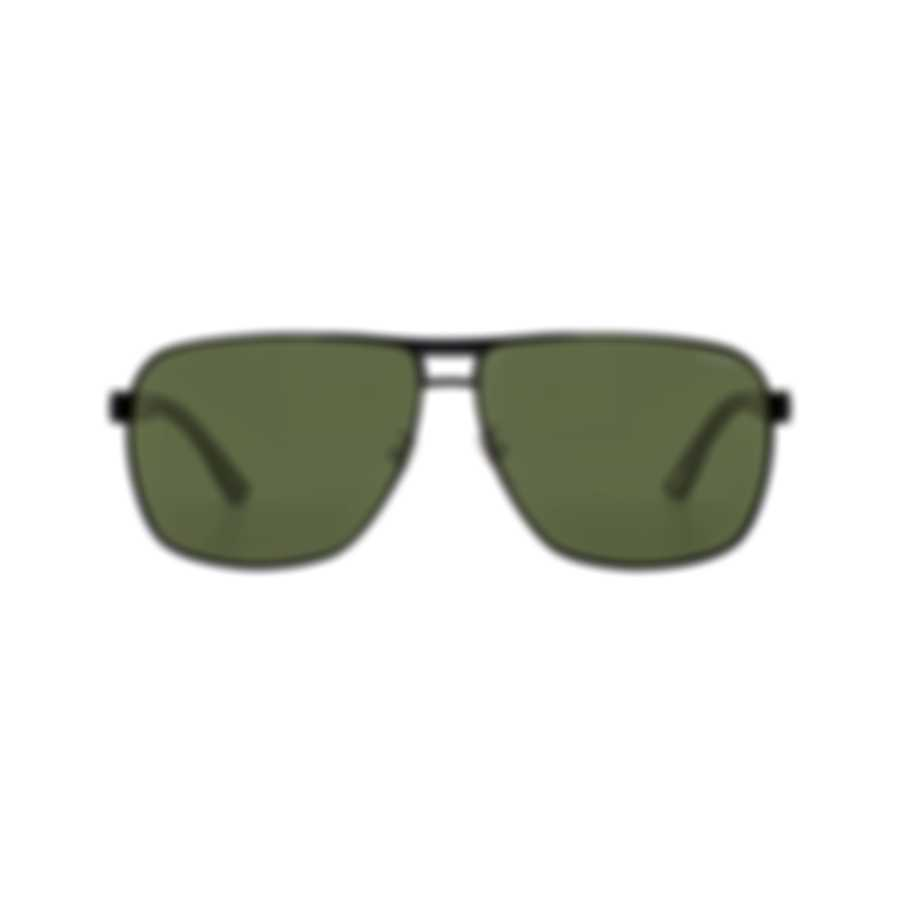 Chopard Racing Green & Black Aviator Style Sunglasses 95217-0421