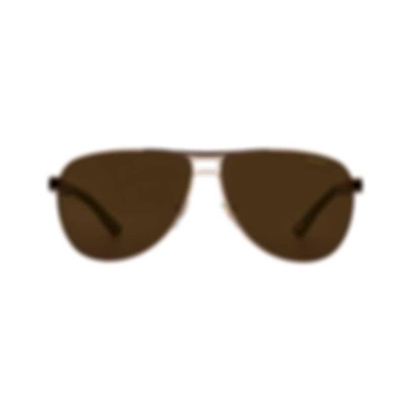 Chopard Grand Prix De Monaco Brown & Gold Aviator Style Sunglasses 95217-0427