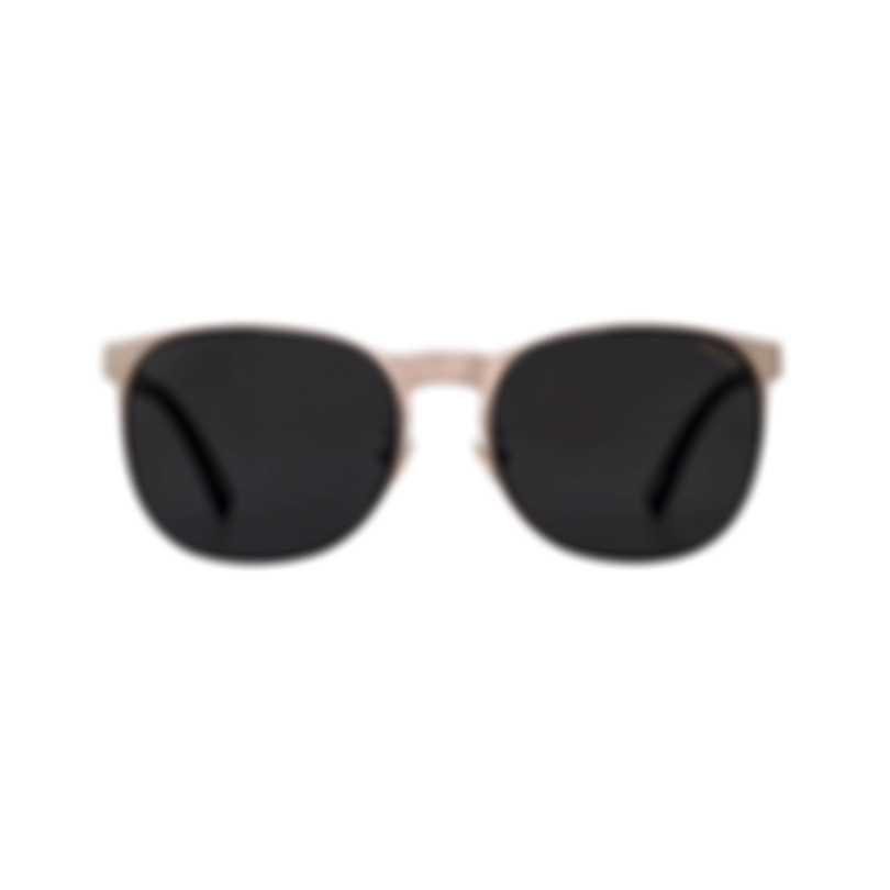 Chopard Mille Miglia Racing Grey & Satin Gold Round Sunglasses 95217-0436