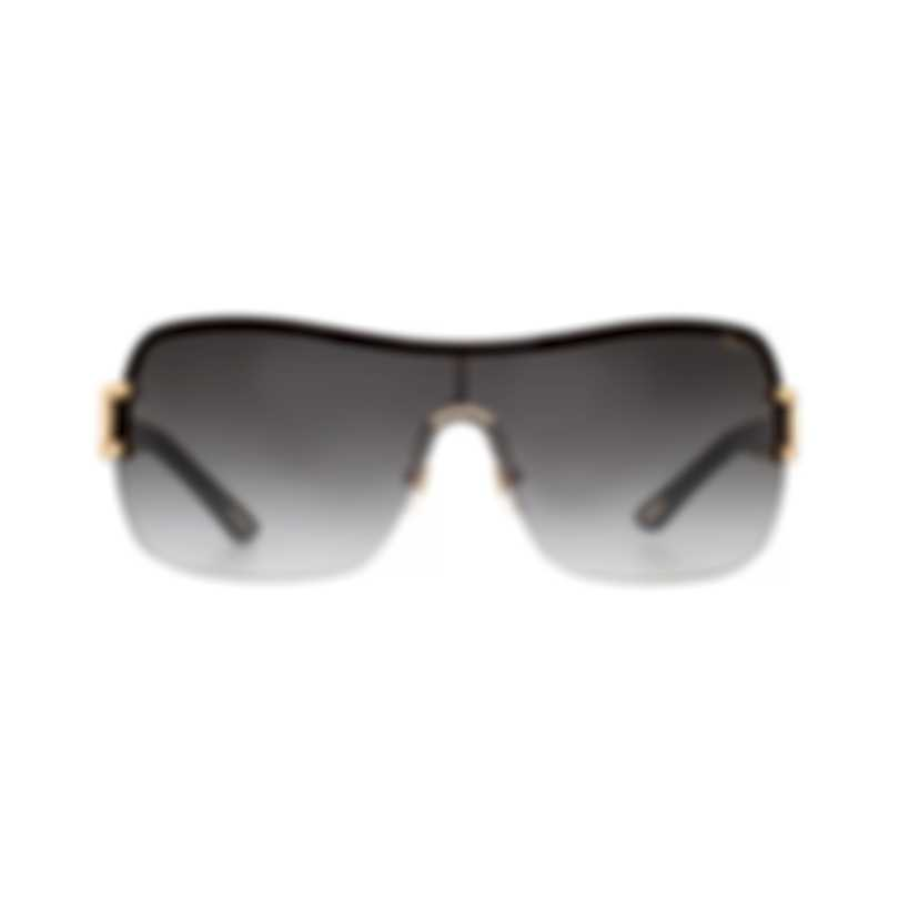 Chopard Designer Grey & Black And Gold Shield Sunglasses 95221-0127