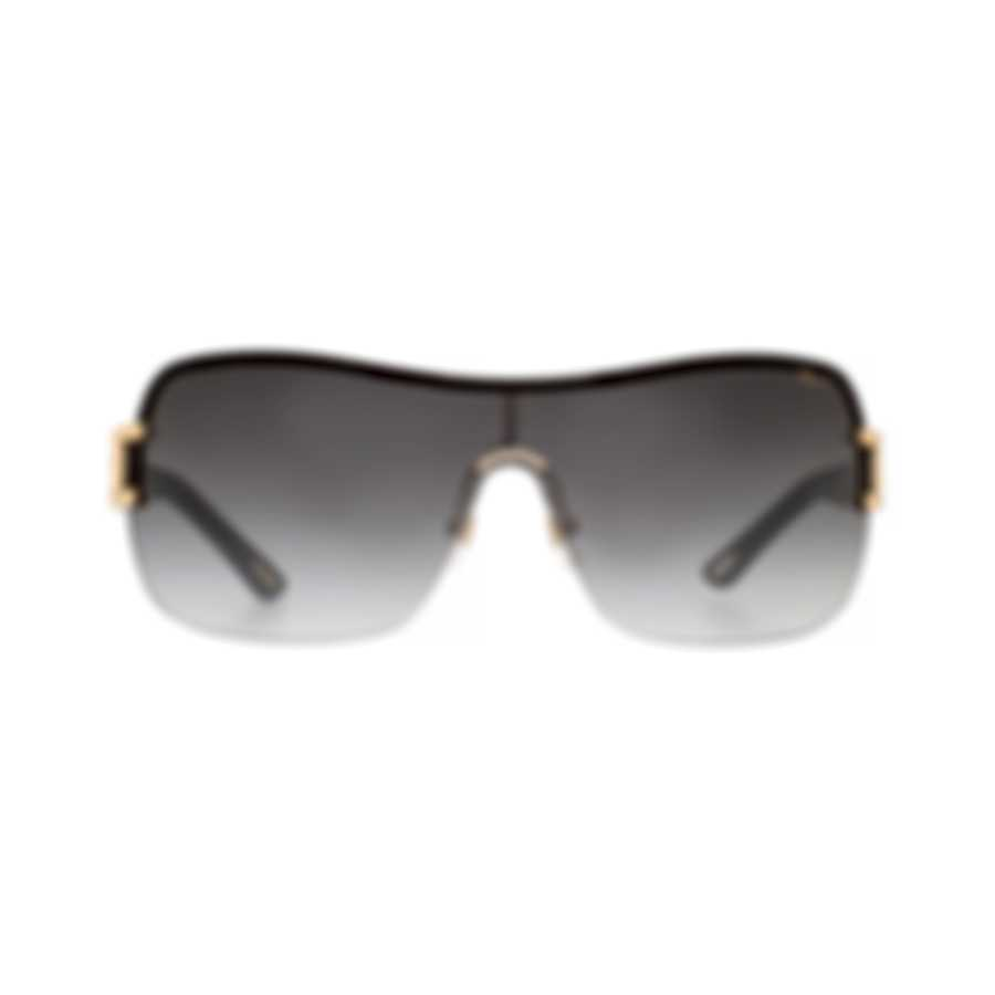 Chopard Designer Grey & Black And Gold Shield Sunglasses 95221-0127
