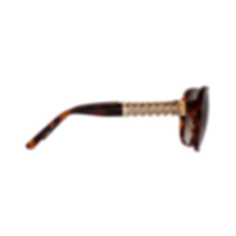 Chopard Imperiale Brown & Tortoise Brown Retro Square Sunglasses 95221-0243