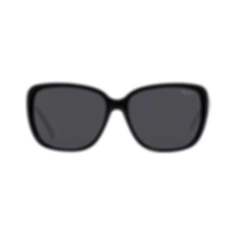 Chopard Imperiale Blue & Black And Silver Retro Square Sunglasses 95221-0242