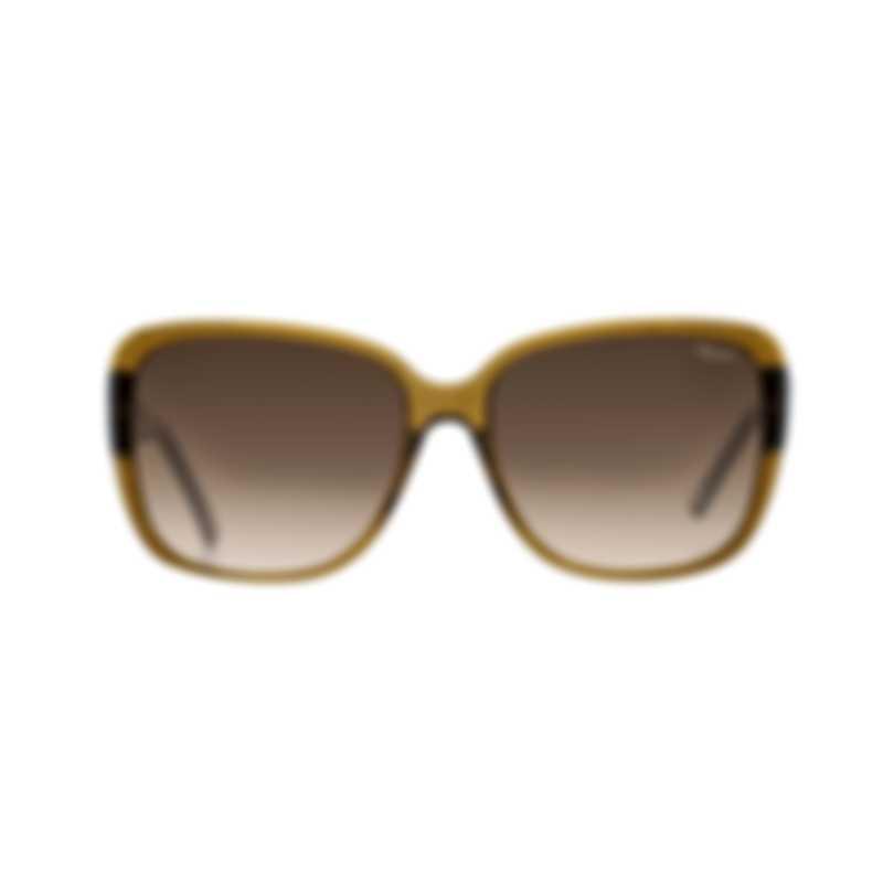 Chopard Imperiale Brown & Olive Retro Square Sunglasses 95221-0244