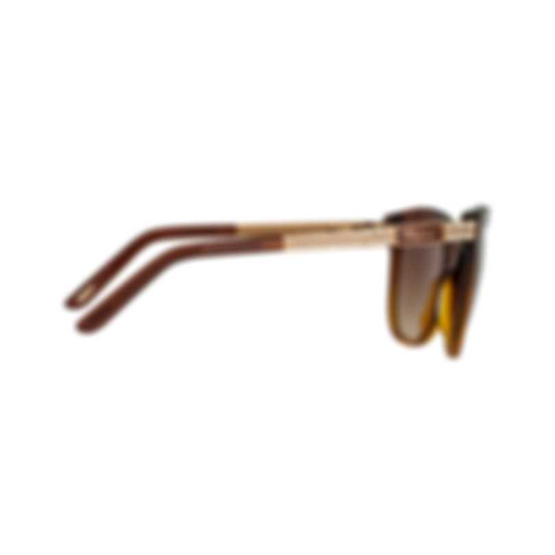 Chopard Designer Brown & Amber Cat-Eye Butterfly Shape Sunglasses 95221-0265